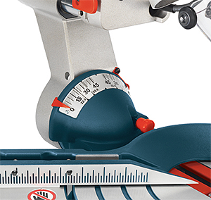 Bosch 5312 Dual Bevel Slide Compound Miter Saw Bevel Scale Detail