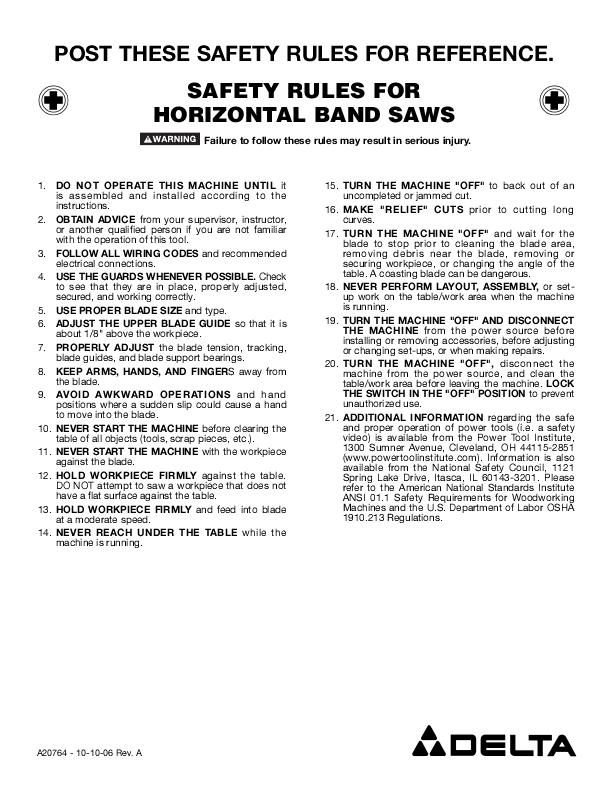 horizontal safety